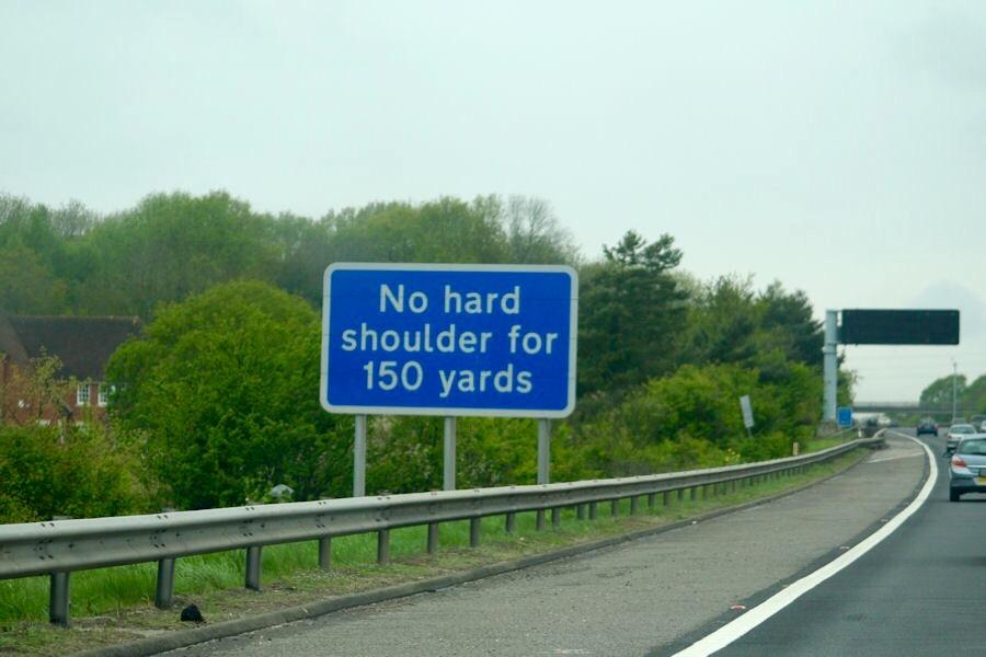 harte Schulter fahren